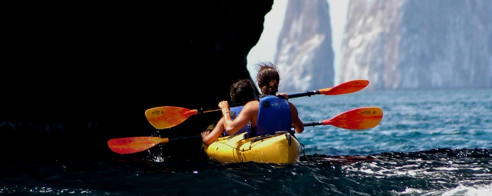 Kayaking near Kicker Rock