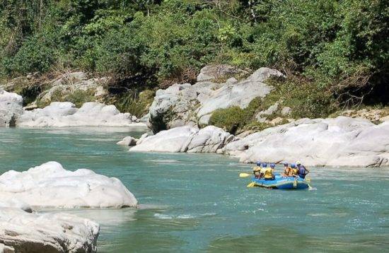 rafting on a multisport trip in the Andes, Ecuador